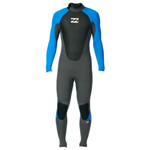 billabong intruder 4.3 mm backzip wetsuit blue